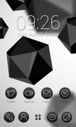 Black & White Go Launcher Android Mobile Phone Theme
