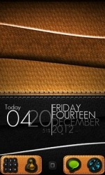 Leather Go Launcher Android Mobile Phone Theme