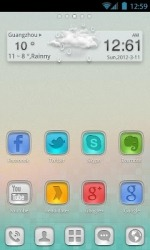 StainedGlass Go Launcher Android Mobile Phone Theme