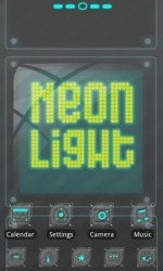 Neonlight Go Launcher Android Mobile Phone Theme
