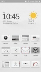 Cream White Hola Launcher Android Mobile Phone Theme