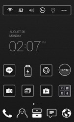 Black Label Dodol Launcher Android Mobile Phone Theme