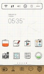 Drawing Note Dodol Launcher Android Mobile Phone Theme