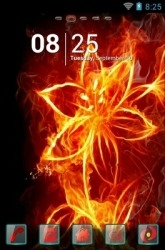 Fiery Flower Go Launcher Android Mobile Phone Theme