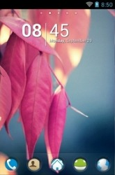 Pink Leaves Go Launcher
