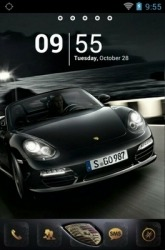 Black Porsche Go Launcher