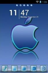 Apple Blue Reflection Go Launcher
