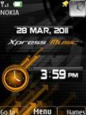Xpress Music Clock S40 Mobile Phone Theme