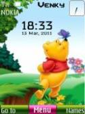 Pooh Clock S40 Mobile Phone Theme