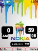 Apple Nokia Clock S40 Mobile Phone Theme
