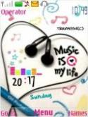 Music Clock S40 Mobile Phone Theme