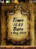Old Clock And Date S40 Mobile Phone Theme