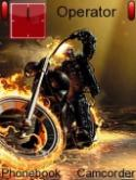 Fire Rider Symbian Mobile Phone Theme