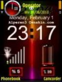 Signal Clock Symbian Mobile Phone Theme