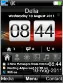 Digital Clock  Mobile Phone Theme