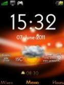 Orange Xperia  Mobile Phone Theme