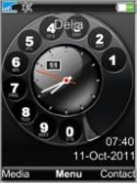 Analog Clock Sony Ericsson Jalou Theme