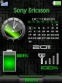 Calendar Battery  Mobile Phone Theme
