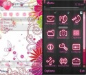 Pink Flower Symbian Mobile Phone Theme