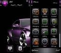 Purple Car Symbian Mobile Phone Theme