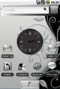 Silver and Black Android Mobile Phone Theme