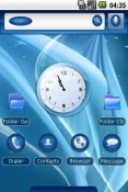 Blue Winds Android Mobile Phone Theme