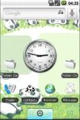 Cutey Panda Android Mobile Phone Theme