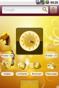 Golden Android Mobile Phone Theme