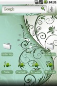 Green Swirl Android Mobile Phone Theme