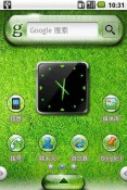 Lawn Dew Drops Android Mobile Phone Theme