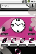 Pink Black Retro Android Mobile Phone Theme