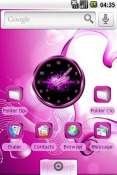 Pink for Girls Android Mobile Phone Theme