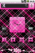Plaid N HotPink Android Mobile Phone Theme