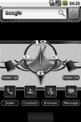 Silver N Black Android Mobile Phone Theme