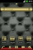 Gold and Leather Go Launcher Android Mobile Phone Theme