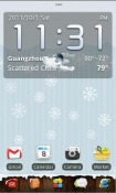 Winter Go Launcher Android Mobile Phone Theme