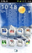 Winter Snow Go Launcher Android Mobile Phone Theme