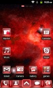redFusion Go Launcher Android Mobile Phone Theme