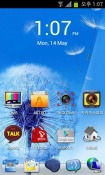 Pebbles Blue Go Launcher Android Mobile Phone Theme