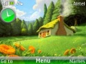 3d Nature Clock Theme for Nokia Asha 205