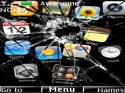 Iphone Broken Screen Theme for Nokia Asha 205