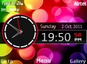 Neon Glow Orbs Clock Theme for Nokia Asha 302