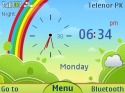 3d Rainbow Theme for Nokia Asha 210