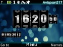 Clock Rolling Theme for Nokia Asha 210