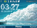 Clouds Clock Nokia Asha 210 Theme