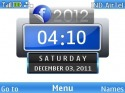 Facebook 2012 Clock Nokia Asha 205 Theme
