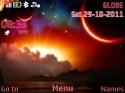 Animated Night Nokia Asha 200 Theme