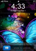 Sweet Butterfly iOS Mobile Phone Theme