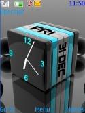 3d Cube Clock S40 Mobile Phone Theme