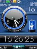 Battery Dual Clock S40 Mobile Phone Theme